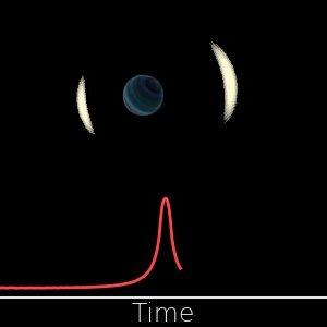 Cambios de brillo de la estrella observada durante el evento de microlente gravitacional por un planeta que flota libremente. Crédito: Jan Skowron / Observatorio Astronómico, Universidad de Varsovia.
