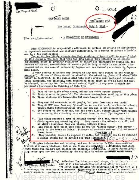 Documento desclasificado del FBI admite que hemos sido visitados por los «seres de otras dimensiones»