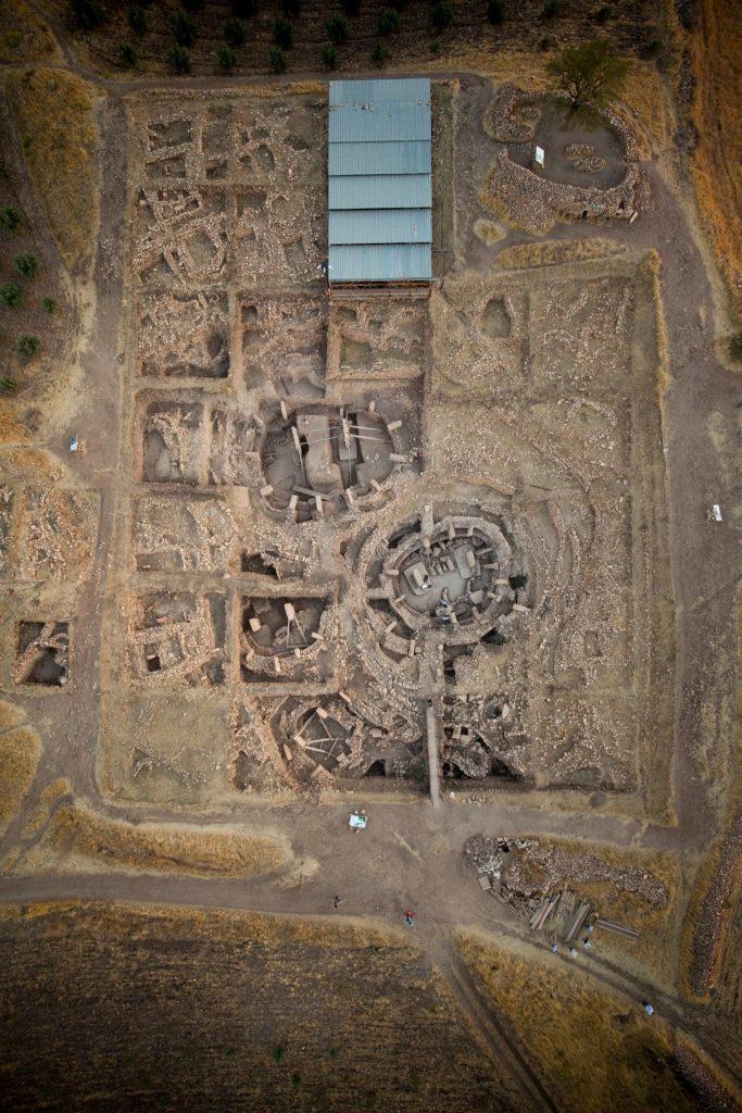 Vista aérea de Gobekli Tepe, principal área de excavación. Crédito: UNESCO