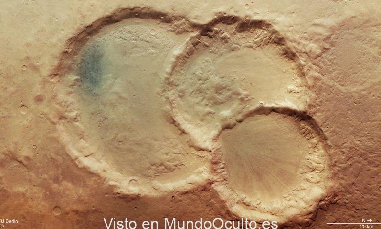 El triple cráter en Marte puede probar que el planeta rojo era habitable