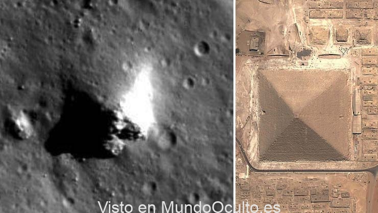 piramide en la luna - Imágenes de la NASA muestran con toda claridad una pirámide en la Luna