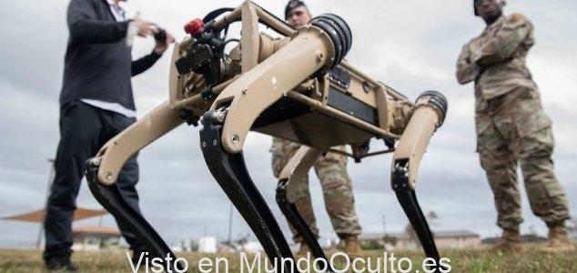 La base de la Fuerza Aérea de EE. UU. Está protegida por perros robóticos