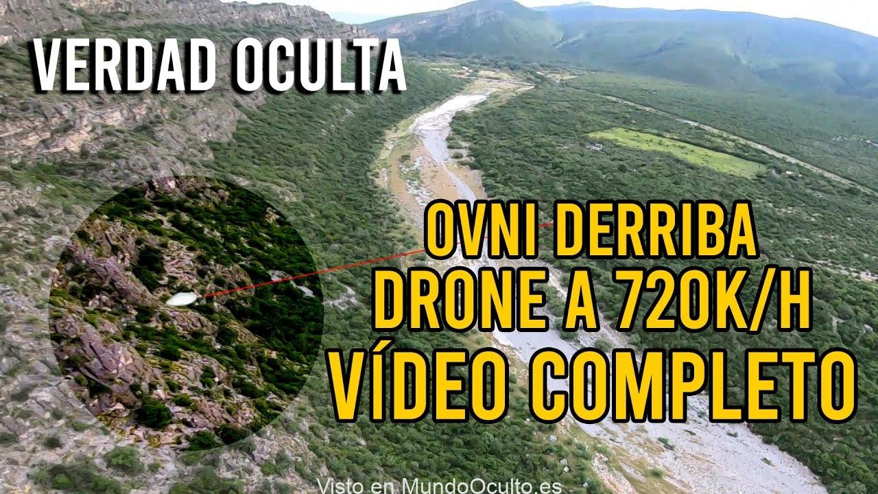 VIDEO COMPLETO OVNI DERRIBA A DRONE EN EL AIRE