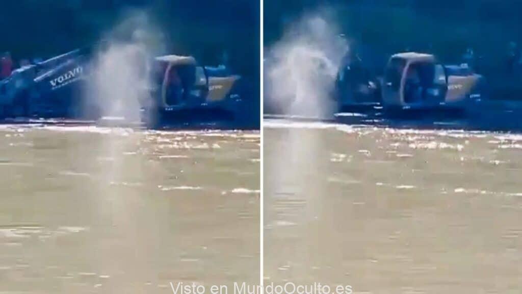 El fantasma de un difunto caminaba sobre el agua: un testigo lo filmó