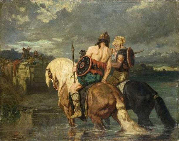 'Los godos cruzan un río' de Évariste Vital Luminais. (Dominio público)