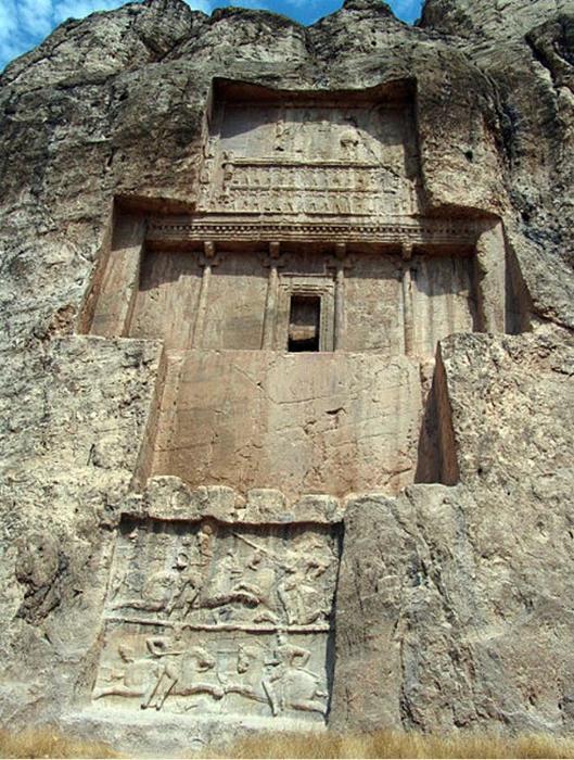 La tumba de Darío I en Naqsh-e Rustam