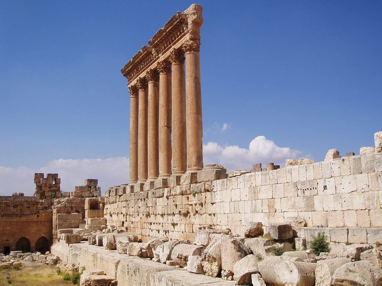 Ruinas del Templo de Júpiter. Crédito: Teach Middle East