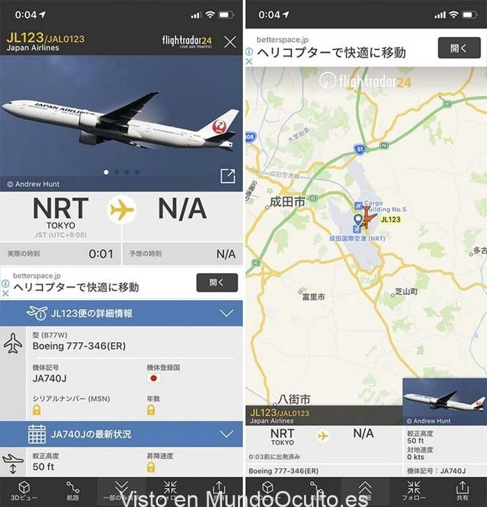 La historia del avión que se estrelló en Japón y apareció en el radar 35 años después