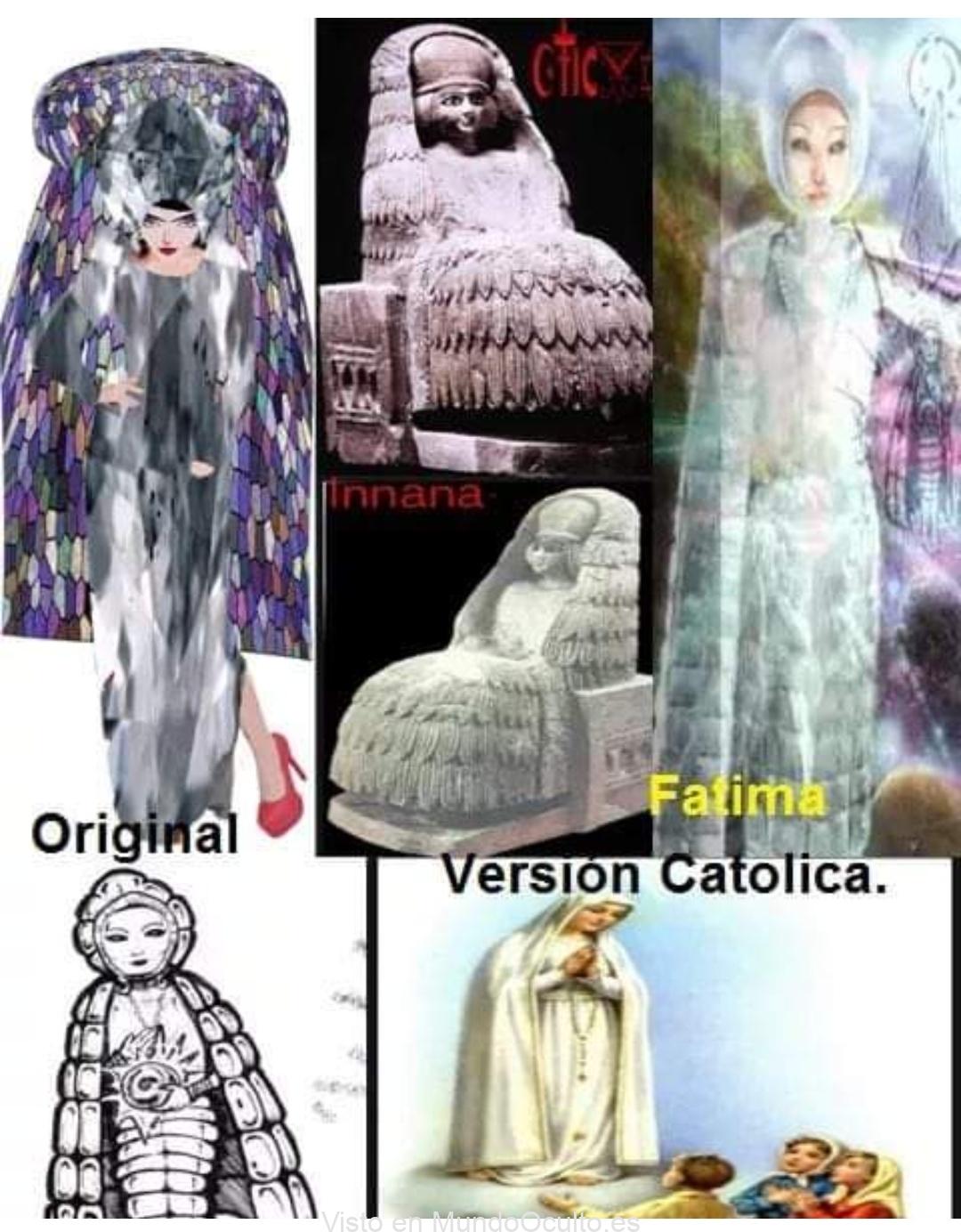 La Virgen De Fatima Es La Annunaki Innana.