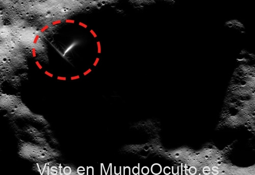Algo muy raro fue captado en la Luna