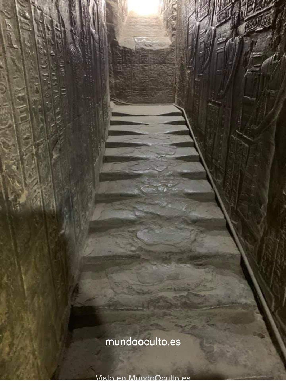 Las escaleras derretidas del templo de Hathor