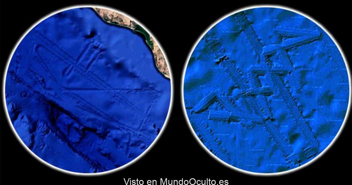 Se descubrieron dos bases alienígenas gigantes sumergidas usando Google Earth