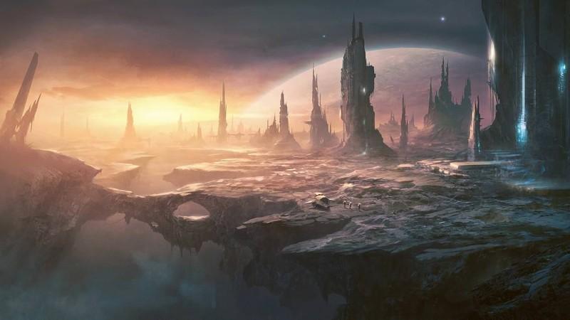 Representación de un exoplaneta que acoge a una civilización alienígena