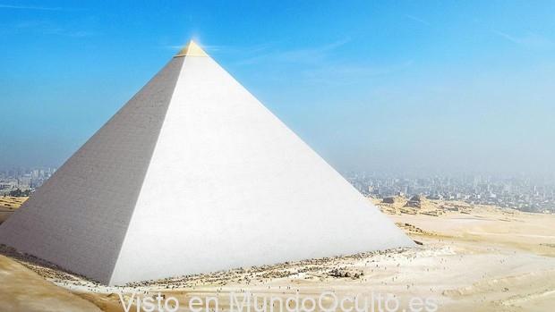 Como se veía la Gran Pirámide de Guiza en tiempos antiguos