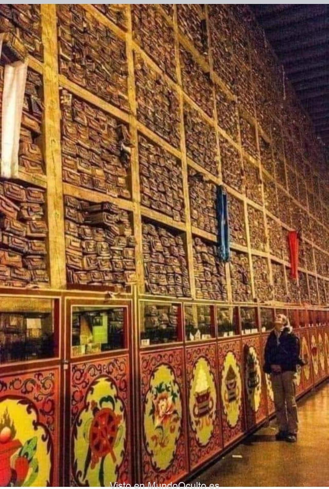 Encontrada en el tibet una biblioteca secreta con 84000 manuscritos secretos