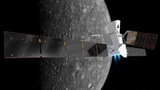 Sonda BepiColombo. Actualmente, viaja a Mercurio impulsada por sofisticados motores iónicos
