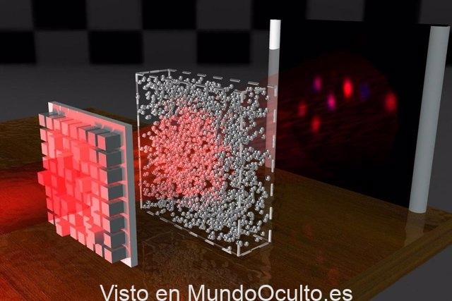 Ondas de luz indestructibles que penetran materiales opacos