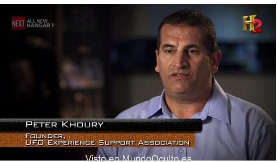 Suceso de abducción de Peter Khoury y una muestra de «cabello extraterrestre»