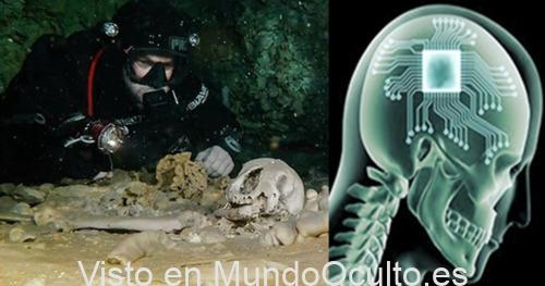 Un cráneo de 12.000 años con un implante de microchip es desvelado por buzos