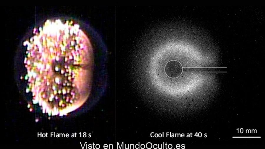 Crean llamas frías encendidas en el espacio, una clase completamente nueva de fuego