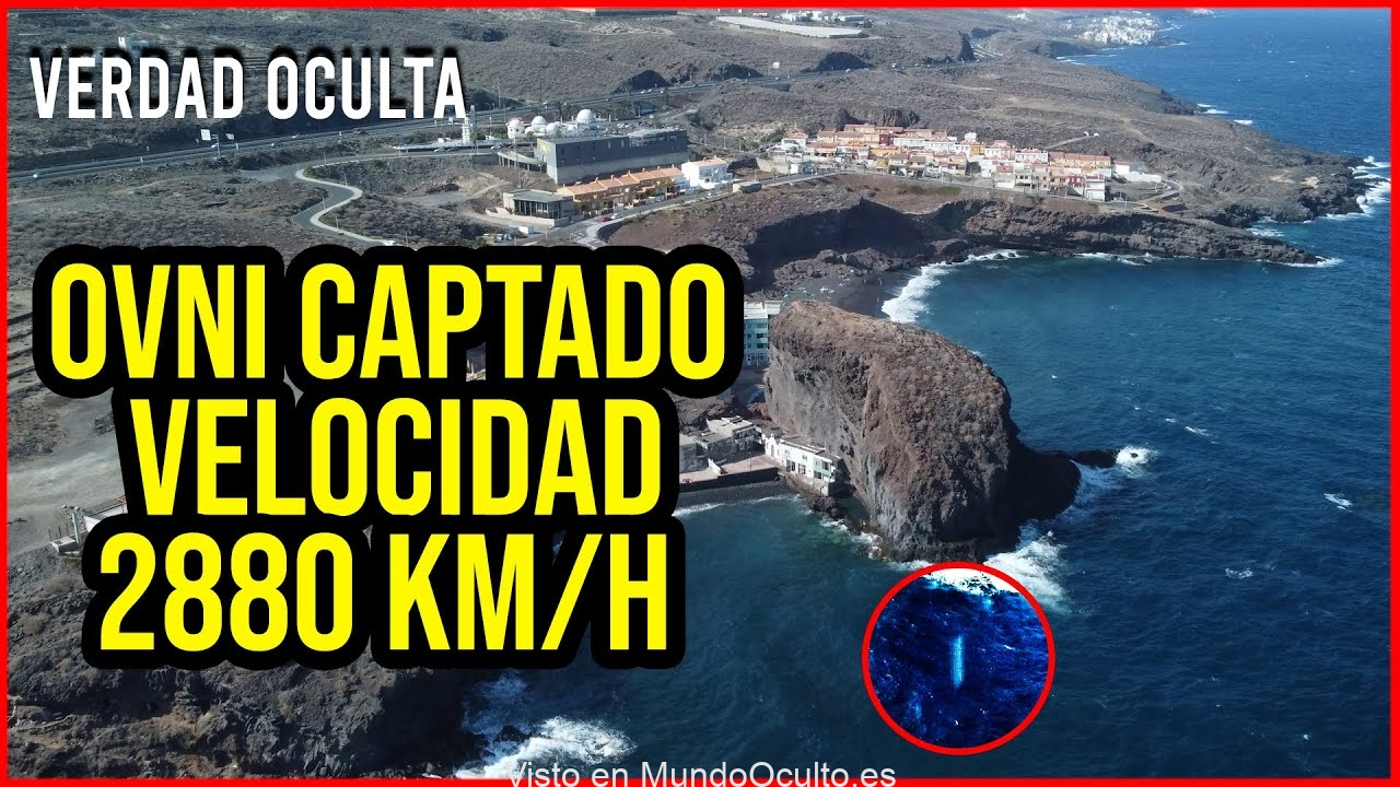 OBJETO A 2880KM HORA CAPTADO POR DRONE EN CANARIAS